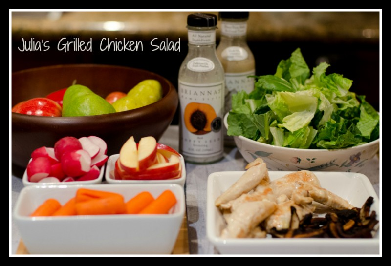 Grilled Chicken Salad #15MinuteSuppers