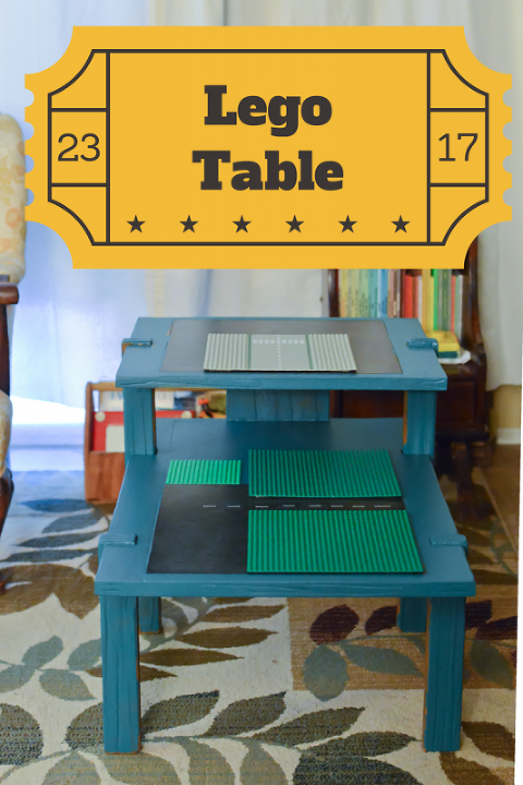 Why the carpet is blue lego table diy kate eschbach for 10 x table song