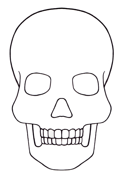 Mesmerizing image inside day of the dead skull template printable