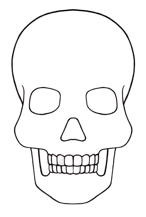 skull template mini