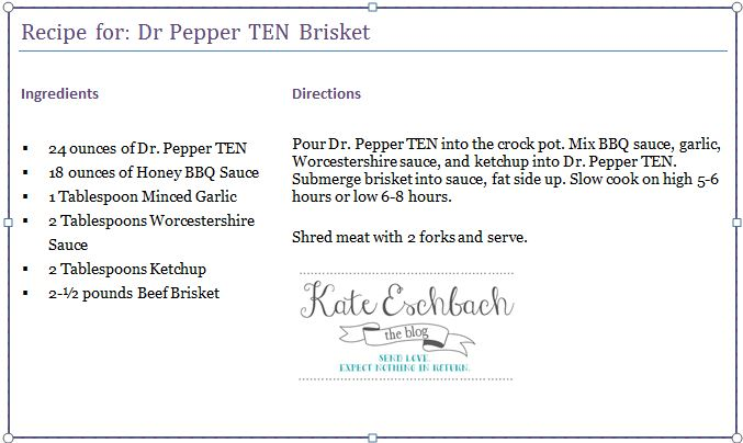 Dr Pepper TEN Brisket