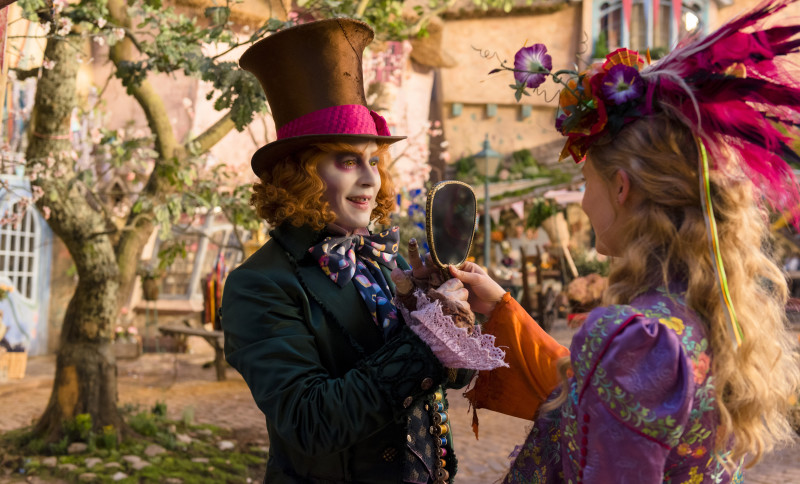 Alice (Mia Wasikowska) returns to the whimsical world of Underland and travels back in time to save the Mad Hatter (Johnny Depp) in Disney