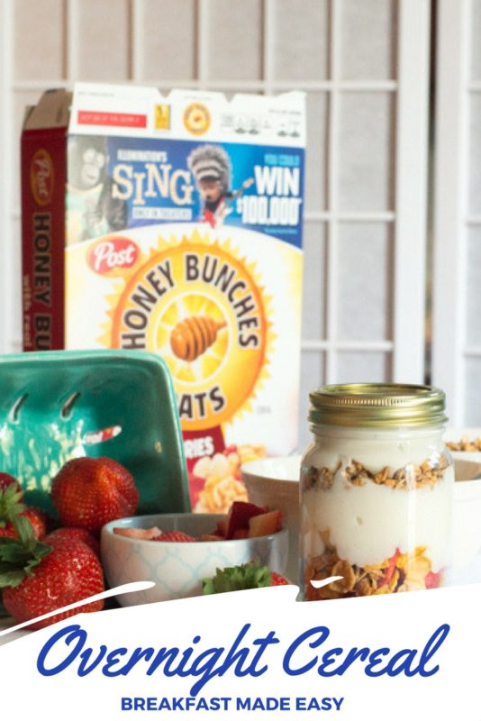 Strawberry and Vanilla Overnight Cereal